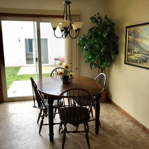 Corporate housing dining room table