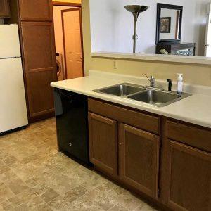 Open design full sized kitchen